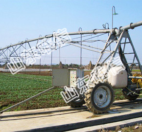 Linear irrigation System with Tower Box
