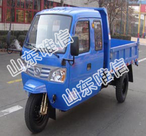 3 Wheel Dumper Closed Iron Cabin Agricultural Tricycle