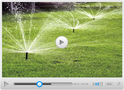 Field Sprinkler Irrigation Used in Farm
